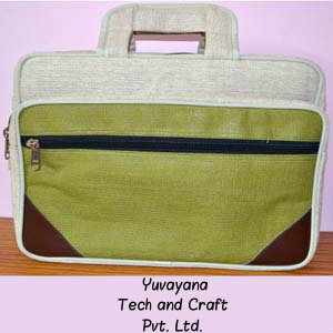 Multi colour Jute Laptop Bag for office