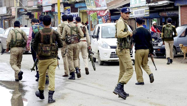 Special Operation Group (SOG) of Jammu and Kashmir Police search for militants
