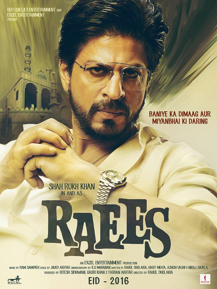 Raees Movie shahrukh khan First Look Posters