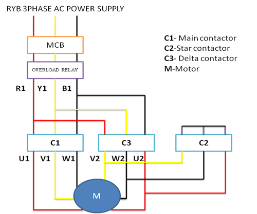 power circuit diagram of star delta starter how to troubleshoot 3 phase induction motor step by step guide star delta starter wiring diagram at webbmarketing.co