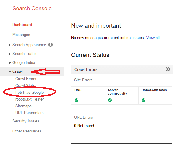 Crawl option in Google webmaster Tool