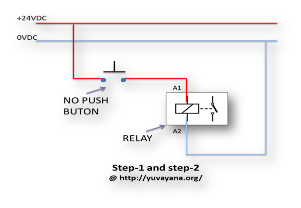 Relay logic control wiring diagram how to create relay logic circuit with examples engineer's portal holding contact wiring diagram at aneh.co