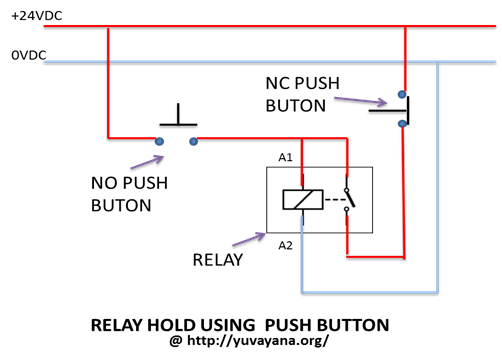 how to create relay logic circuit with examples engineer's portal relay drawing relay hold using two push button