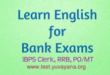 English practice test for bank exams