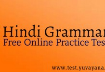 Hindi Vyakarn practice test paper