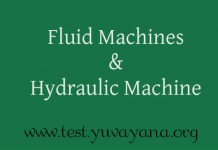 Fluid Machines and Hydraulic Machine objective question answers