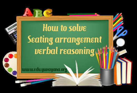 How to solve linear seating arrangement verbal reasoning questions easily