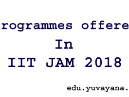Programmes offered in JAM 2018